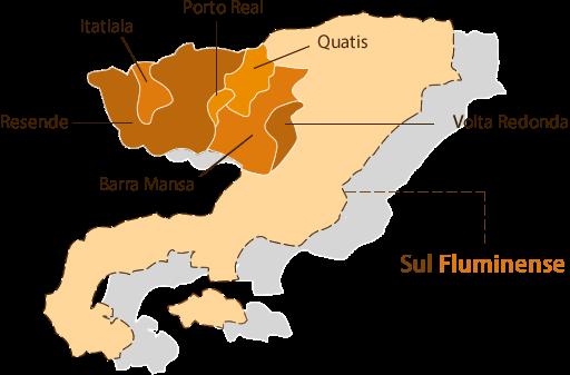 mapa das nossas áreas de atuações